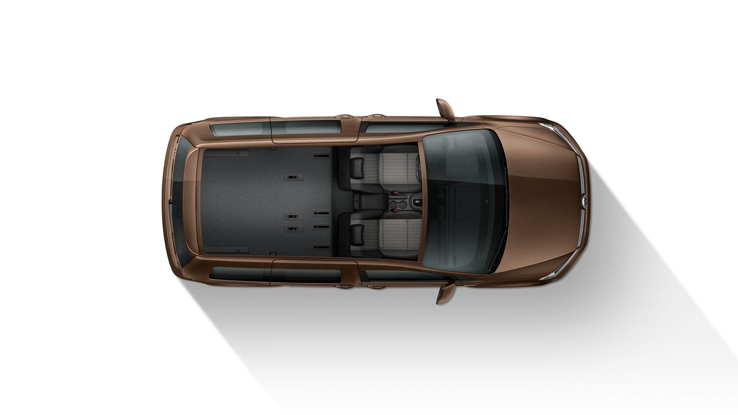 Вид сверху VW Caddy