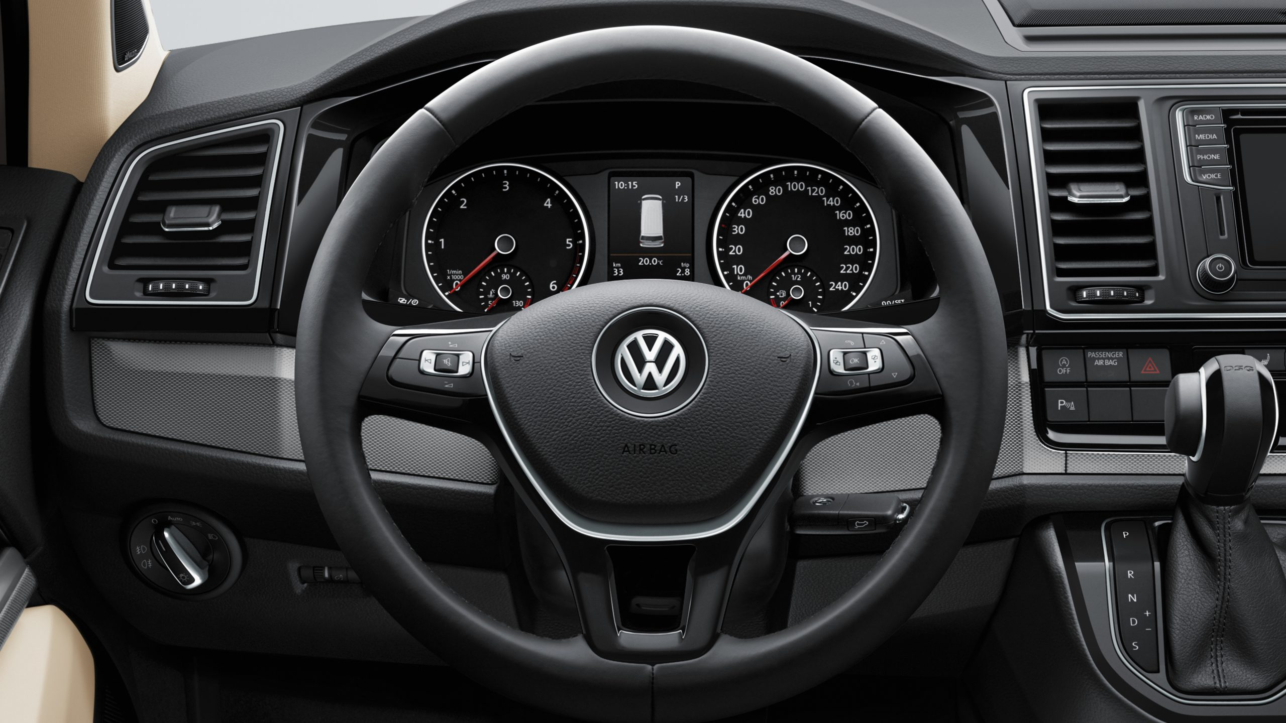 Многофункциональное рулевое колесо Volkswagen Multivan