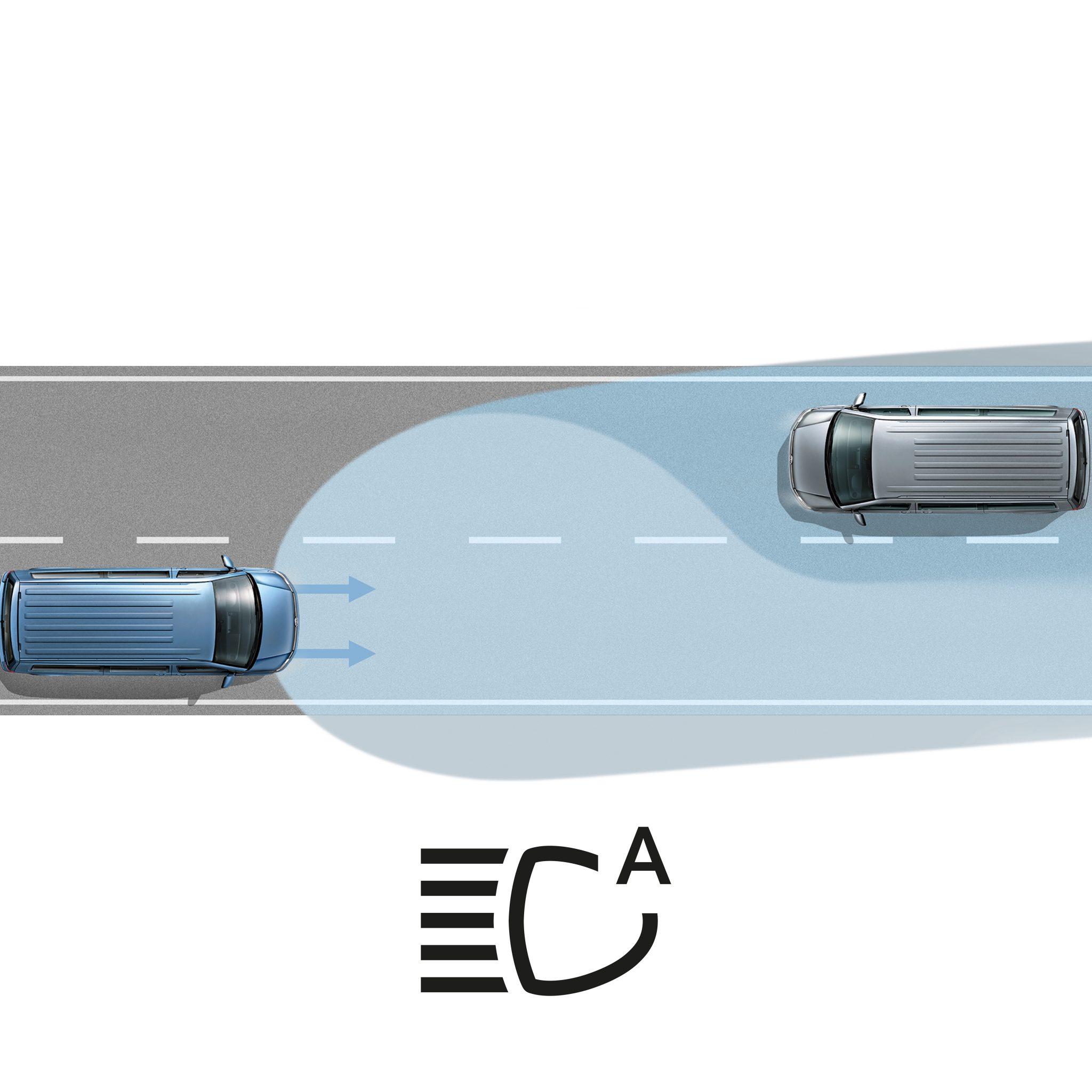 Ассистент автоматического управления дальним светом фар Light Assist Фольксваген Транспортер