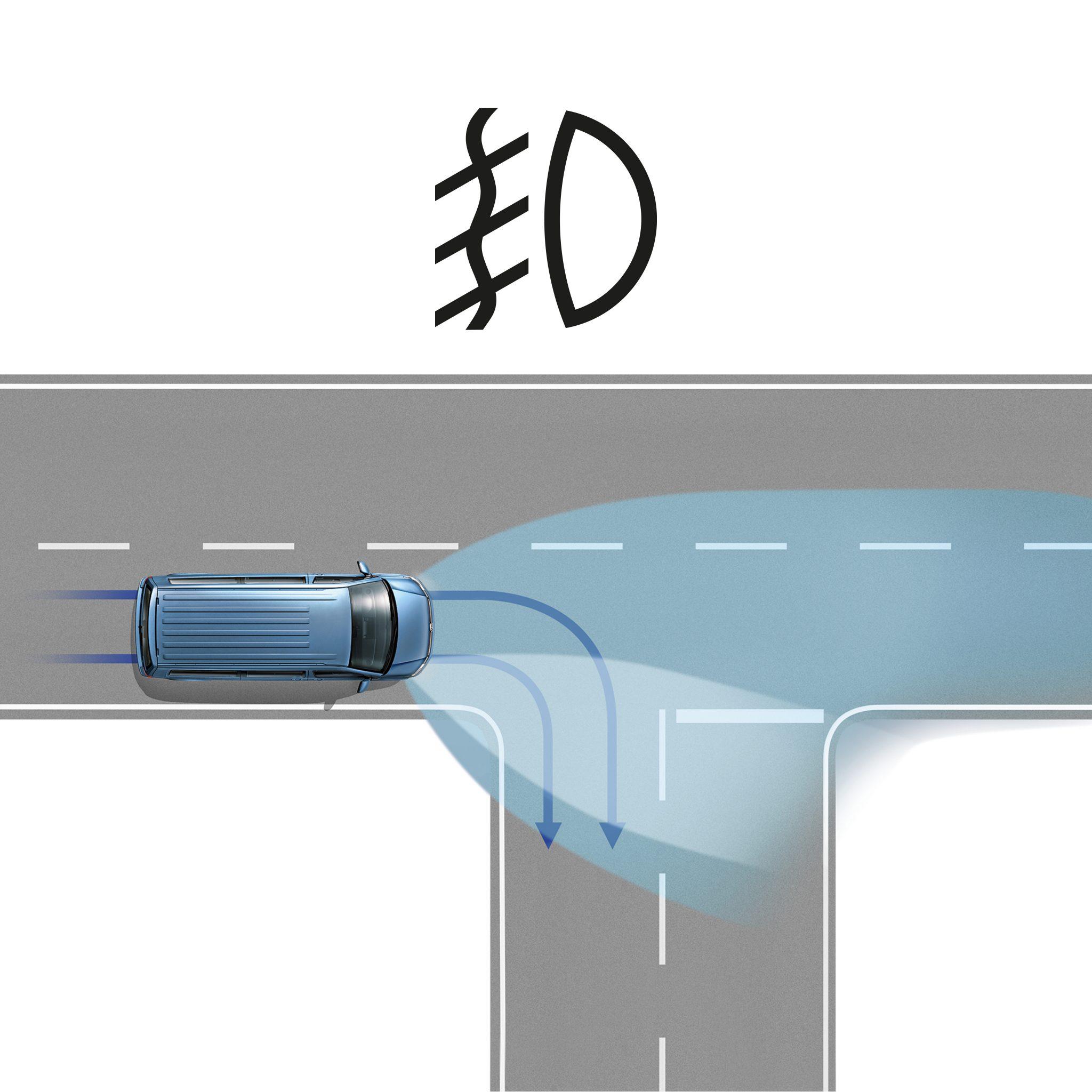 Противотуманные фары с функцией подсветки поворотов Volkswagen Transporter