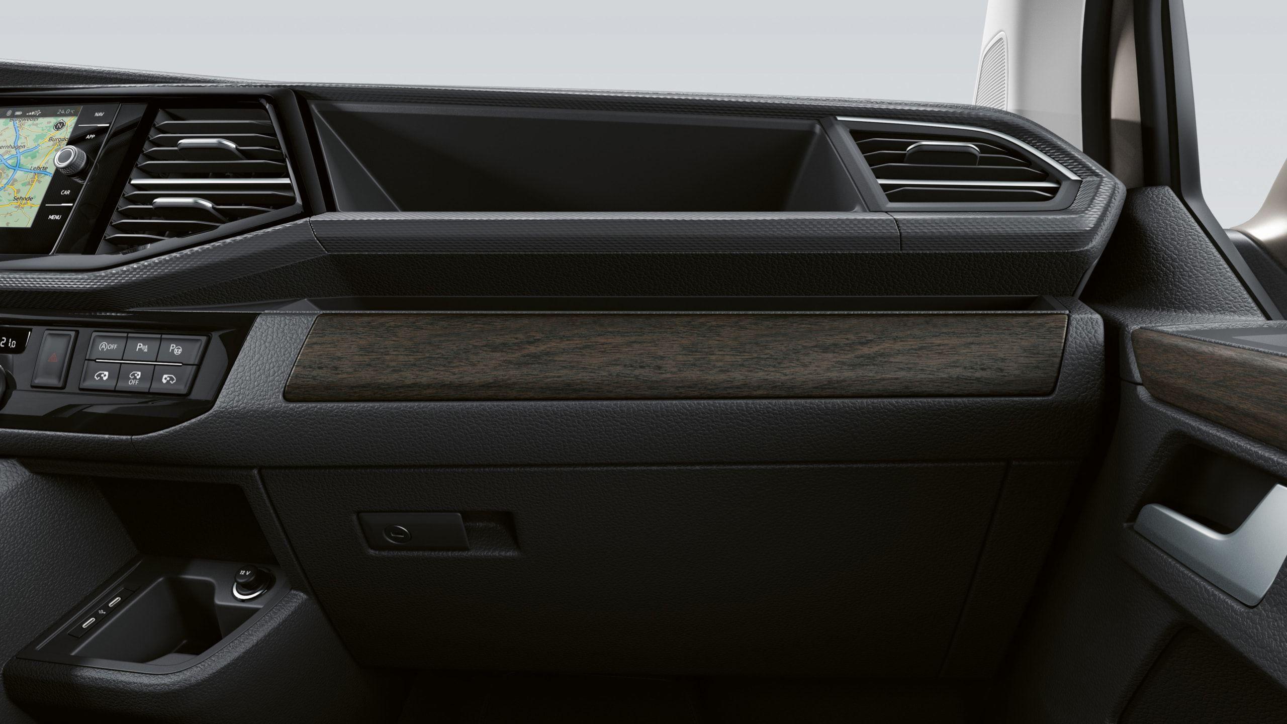 Декоративные панели серебристого цвета Volkswagen Multivan T6.1