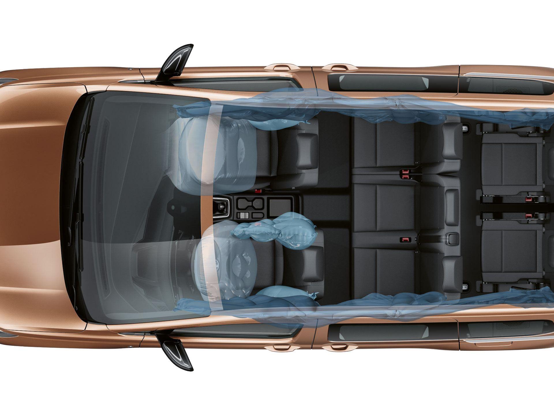 Центральная боковая подушка безопасности коммерческого и пассажирского Caddy